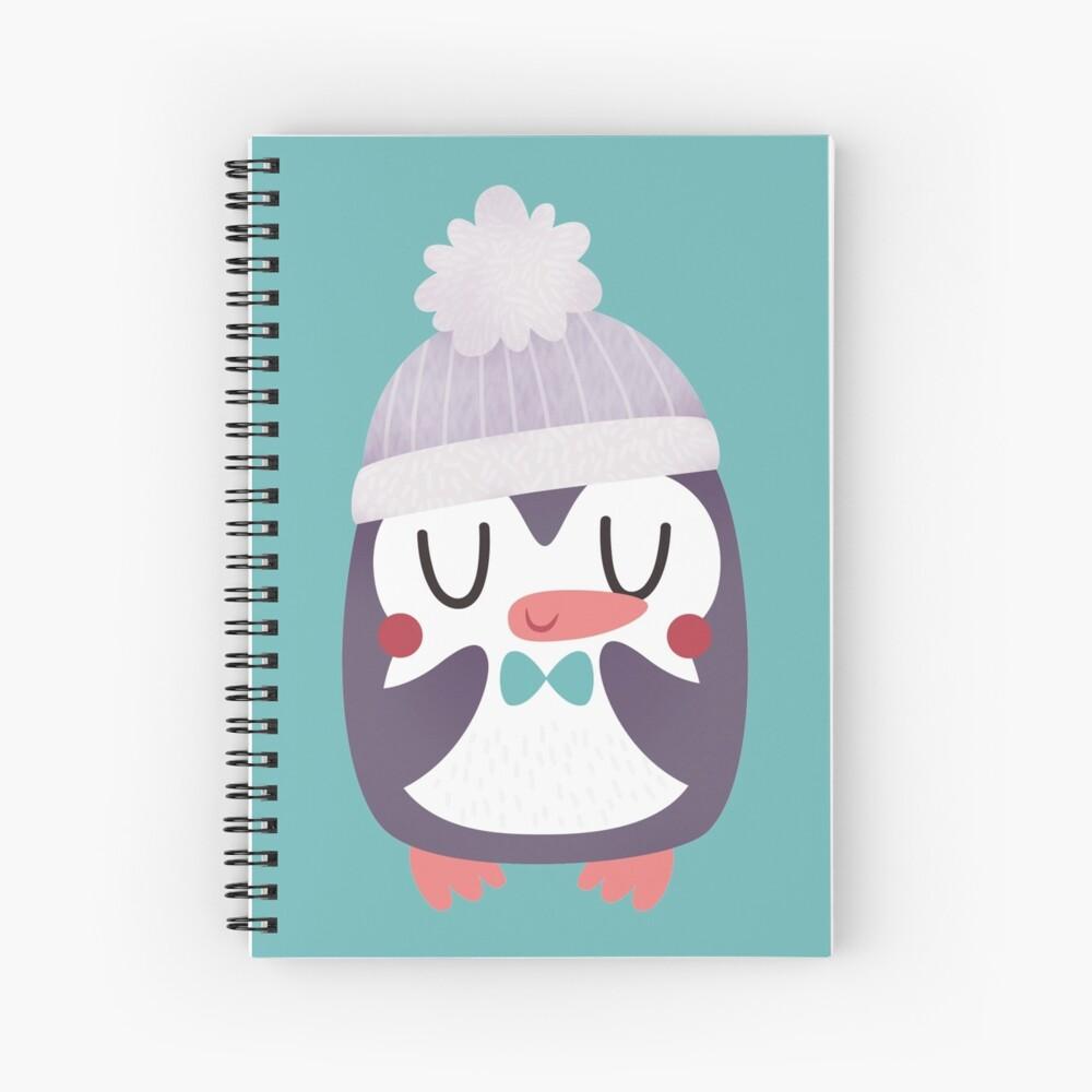 Lindo pingüino acogedor Cuaderno de espiral