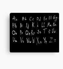 Hand drawn english alphabet Canvas Print