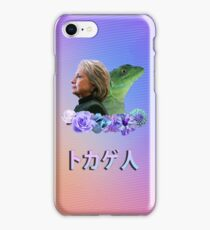 hillary clinton the lizard  iPhone Case/Skin