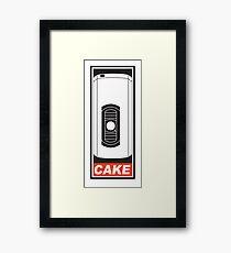 Cake is a Lie Framed Print