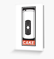 Cake is a Lie Greeting Card