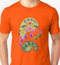 Romantic design with Love Birds and Flowers Unisex T-Shirt