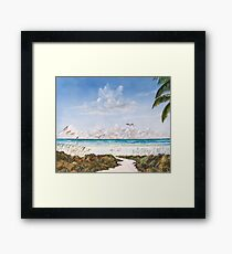 My Paradise Location Framed Print