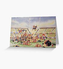 Sporting Prints- Drop Penalty Greeting Card