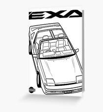 Nissan Exa Action Shot Greeting Card