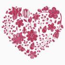 Pink Flower Heart by adamcampen