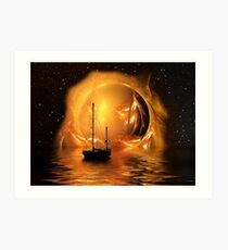Molten Sunset Art Print