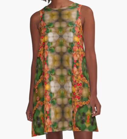 Autumn Colours A-Line Dress