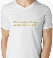 led zeppelin stairway to heaven jimmy page robert plant rock lyrics rocker hippie t shirts Men's V-Neck T-Shirt