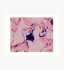 Pink Atlas Pool Art Print
