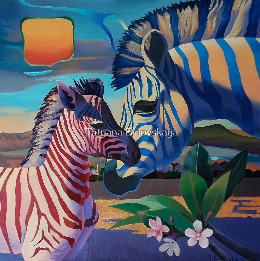Sunset in Ngoro Ngoro. (Origilal is in private collection) by Tatyana Binovskaya