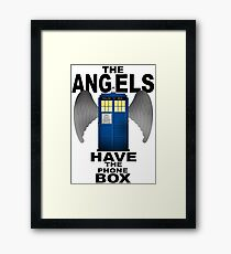 The Angels Have The Phonebox - Doctor Who Framed Print