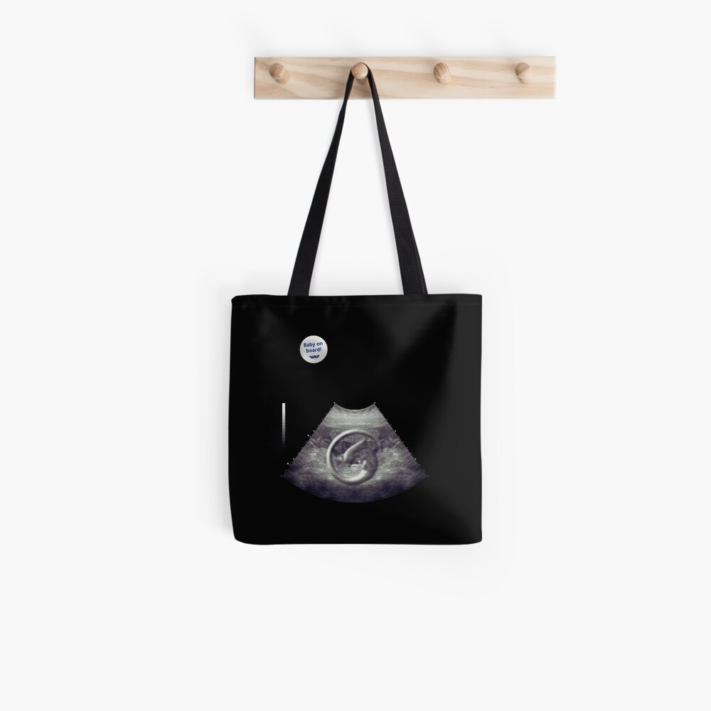Alien on board! Ultrasound - badge variant Tote Bag