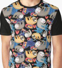 Bright fun sloths Graphic T-Shirt