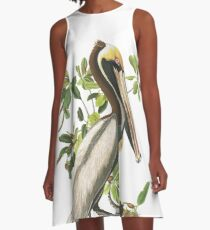 Brown Pelican - John James Audubon A-Line Dress