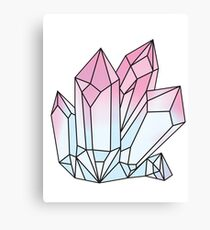 Holographic Crystal Canvas Print