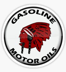 Red Indian Gasoline vintage sign reproduction crystal vers. Sticker