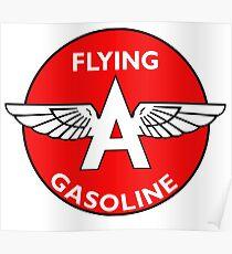 Flying A Gasoline vintage sign Poster