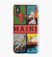 Maine Lobster Sailing Vintage Travel Decal iPhone Case/Skin