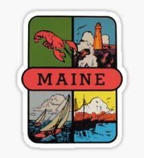 Pegatina Maine Lobster Sailing Vintage Travel Decal