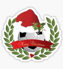 Christmas Soccer Ball Sticker