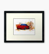Mazda Miata Drift Painting Framed Print