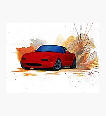 Mazda Miata Drift Painting Photographic Print