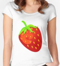 Sweet Strawberry Women's Fitted Scoop T-Shirt