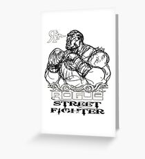 ROGUE STREET FIGHTER Greeting Card