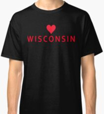 Wisconsin with Heart Love Classic T-Shirt