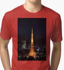 Tokyo Tower Tri-blend T-Shirt
