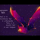 """Depression Lies"" Galaxy Bat by thelatestkate"