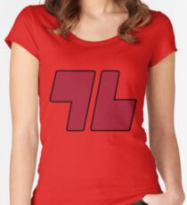 96 Red - Sun and Moon Women's Fitted Scoop T-Shirt