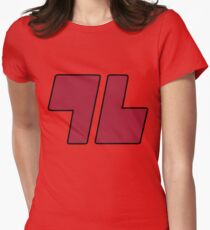 96 Red - Sun and Moon Womens Fitted T-Shirt