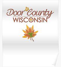 Door County Wisconsin Fall Colors Poster