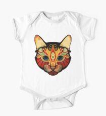 the cat Baby Body Kurzarm