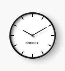 Sydney Time Zone Newsroom Wall Clock Clock