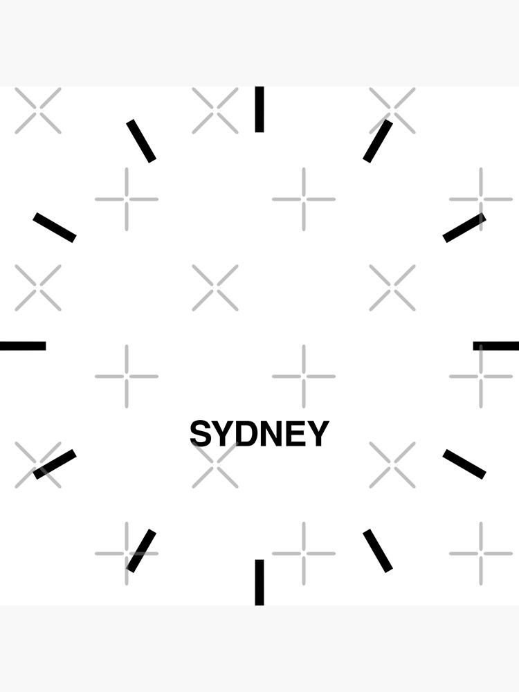 Sydney Zeitzone Newsroom Wanduhr von bluehugo