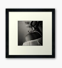 your curl Framed Print