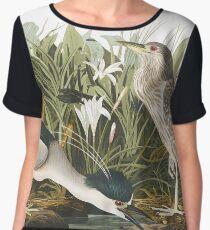 Black-Crowned Night-Heron - John James Audubon Chiffon Top