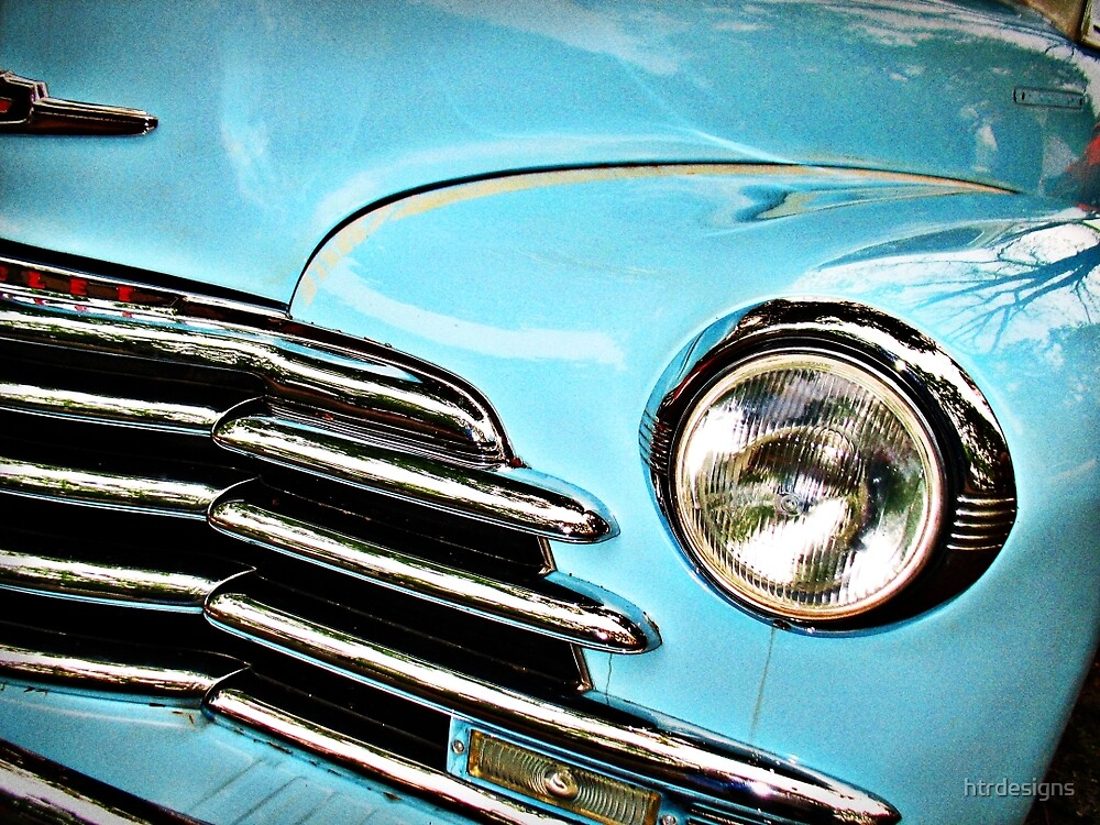 Blue Chevrolet truck headlight by htrdesigns