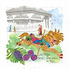 Jantzen Beach Carousel Grape Horse by dkatiepowellart