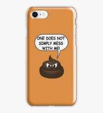 One Does Not Simply Featuring The Poop Emoji iPhone Case/Skin