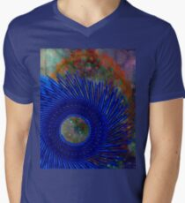 Blue sun  Men's V-Neck T-Shirt