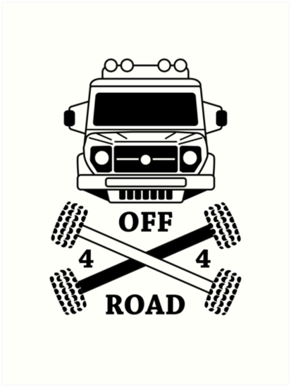 u0026quot 4x4 offroad logo car u0026quot  art prints by abricotti