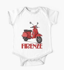 FIRENZE - Florence Italy -  on a bright red Scooter! Kids Clothes