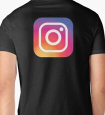 New Instagram LOGO Men's V-Neck T-Shirt