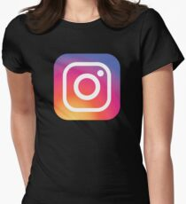 New Instagram LOGO Women's Fitted T-Shirt