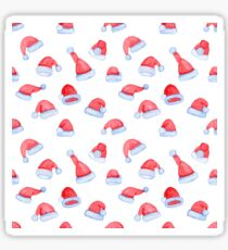 Seamless pattern with watercolor Santa Claus hats Sticker