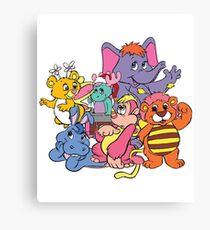 Wuzzles 80s Retro Cartoon Canvas Print